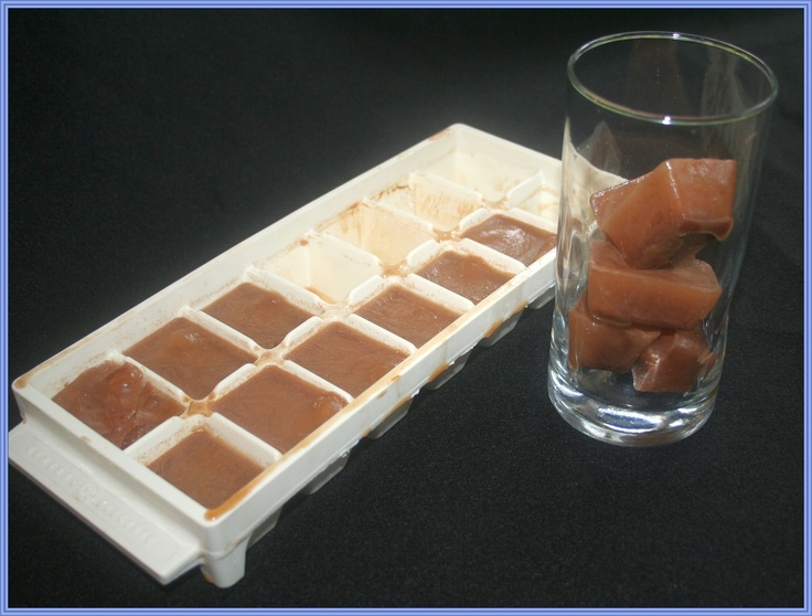 Cool and clever! Keep your iced Crio Bru brewing cocoa cool and not watered down by making Crio Bru ice cubes! Works with coffee, lemonade, etc.
