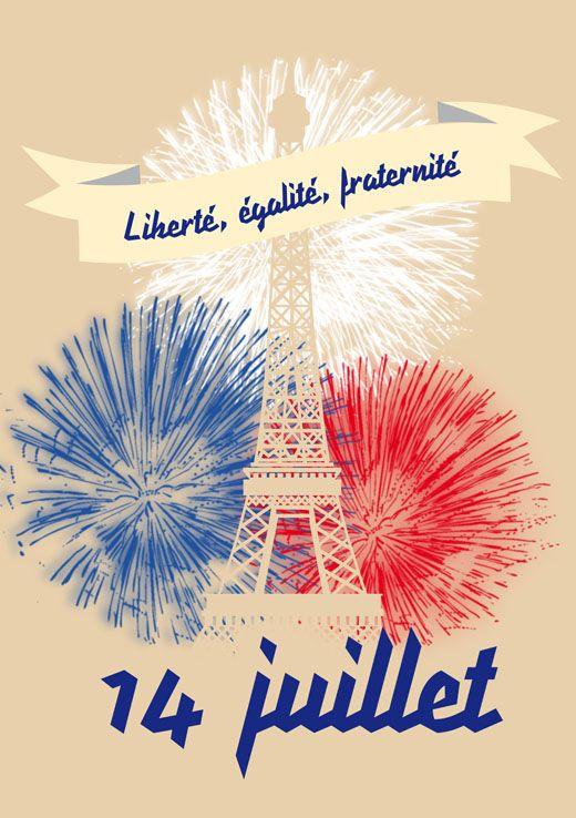 Le 14 juillet 2013 - le feu d'artifice à la Tour Eiffel
