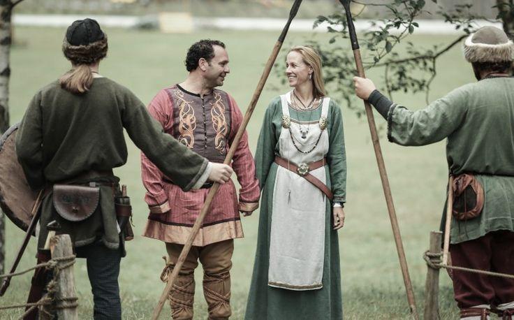 Gustavo and Fanny Bogomolni during their Viking themed wedding