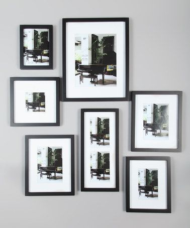 black contemporary frame set
