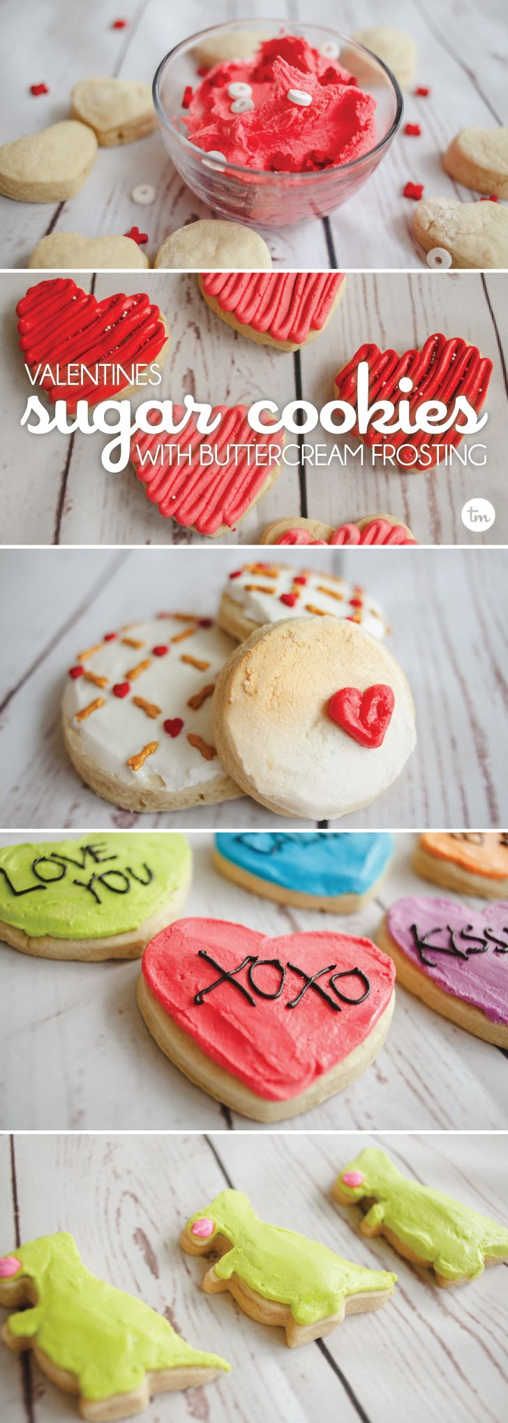 Valentine's Sugar Cookies with Buttercream Frosting | These adorable cookies are proving that buttercream can be as pretty as royal icing! via @todaysmama