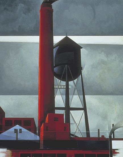 Demuth Charles Chimney And Water Tower Print 11 x 14 #475