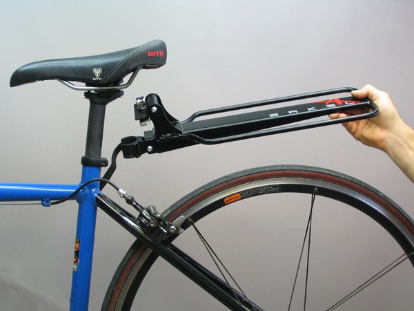 Arkel Randonneur rack - This cantilevered pannier rack includes 3 points of attachment for stability and can be quickly moved from bike to bike. Couple with the tailrider trunk bag for a perfect bicycle trunk system.