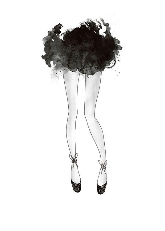 Poster mit Modern art, Fashion-Illustration.