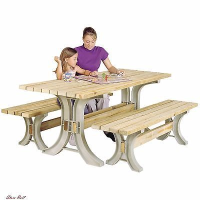 Picnic Table Kit Patio And Lawn Garden Backyard Outdoor 2x4 Basics Frames Only