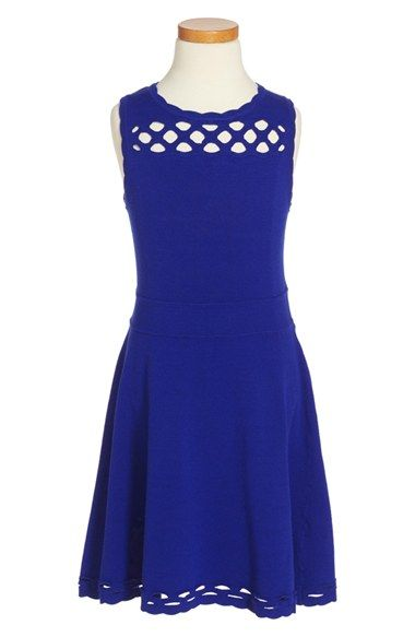 Milly Minis Scallop Fit & Flare Dress (Toddler Girls, Little Girls & Big Girls)
