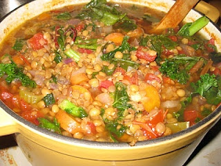Vegan Savory Lentil and Greens Soup from Engine 2 Diet by Rip Esselstyn (GF/CF/SF/NF/YF/oil-free/) allergen free