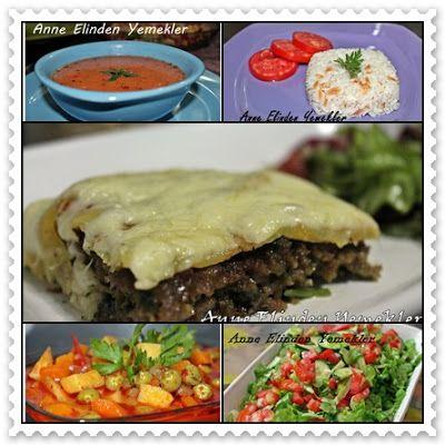 Tarhana Çorbası Şehriyeli Pirinç Pilavı Tepsi Köftesi Zeytinyağlı Bezelye Yemeği Yeşil Salata
