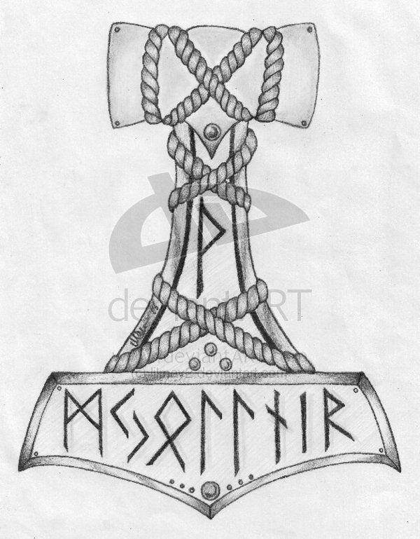 Mjolnir tattoo idea - maybe rethinking what ive got planned
