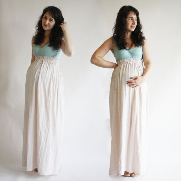 Love the DIY maxi skirts! It would be so easy to make and can be worn both pregnant and not!! abbyr77