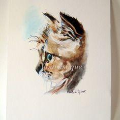Illustration aquarelle d'un petit chat