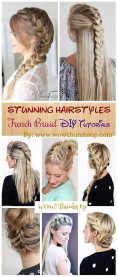 DIY Stunning French Braid Hairstyles with Step by step ...