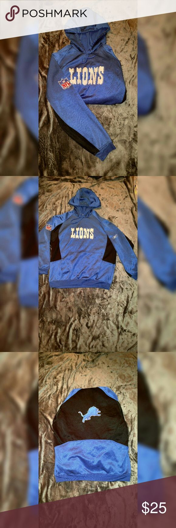 Lions NFL Sweatshirt In great condition only worn once. No signs of wear or tear and no stains or marks look brand new. Reebok Shirts Sweatshirts & Hoodies