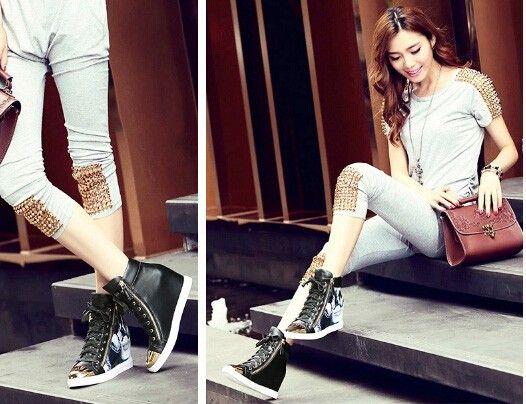 2014 осенью новый женские сапоги с резиновая подошва плоские туфли кожаные ботинки с бахромой внутри увеличилась цвета заклинание короткими цилиндрическими сапоги - Taobao