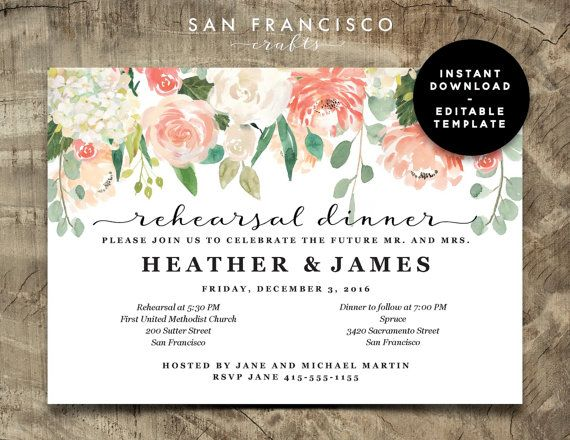 Best 25+ Rehearsal dinner e invitations ideas on Pinterest - dinner invitations templates