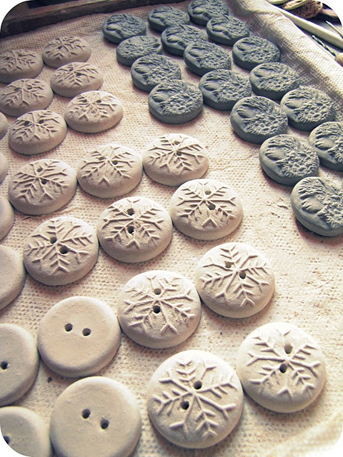 Clay buttons For mom!!!