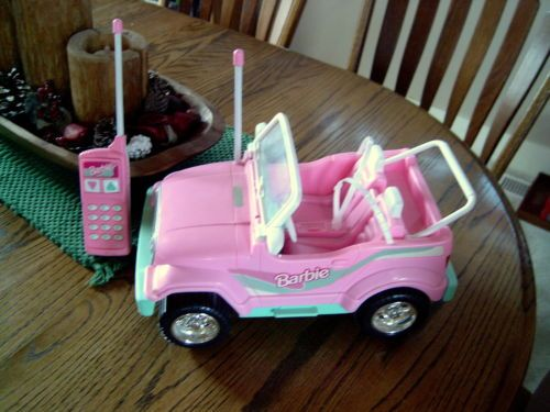 1998 Mattel Pink Barbie Jeep Battery Operated with Remote ...