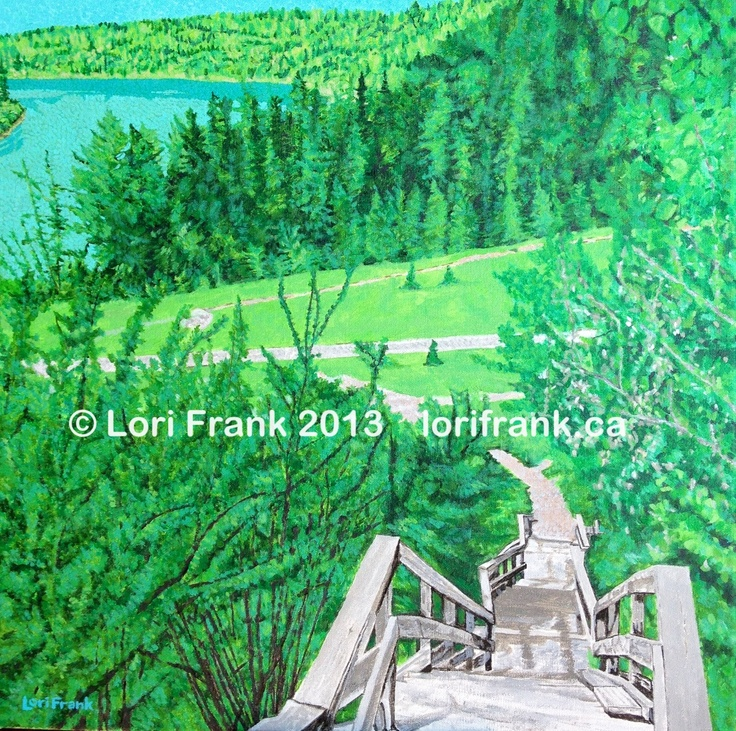 """Summer Solstice, 20""""x20"""" acrylic on canvas. Prints available. www.lorifrank.ca"""