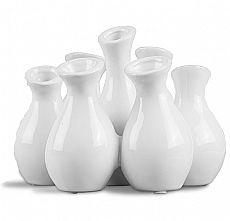 Blumenvase (bestehend aus 7 kleinen Vasen)