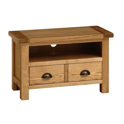 """Montague Select Oak TV cabinet with drawer - up to 34"""" (V889) with Free Delivery 