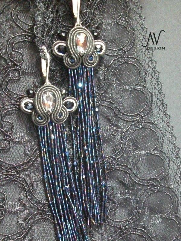 """Boucles d'oreilles """"Comètes"""" - Mes bijoux en perles"""