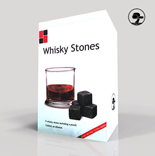 Best Selling Whiskey Stones - Better Than Ice Cubes - Premium Whiskey Stones Gift Set Includes 9 Stones, Gift Box and Carrying Bag - Whisky Rocks - Scotch Rocks - Wine Stones - Best Gift Set of 9 High Quality Whiskey Chilling Cubes - Better Than Sipping Stones or Chilling Rocks - Use for Bourbon, Vodka or Non-alcoholic Drinks - Handmade Soapstone - Dark Gray - Wine Enthusiast Best Buy - Lifetime Guarantee - Made in the USA By William and Nicole Designs William & Nicole Designs…