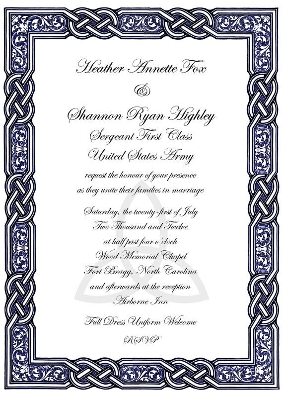 Celtic Knot Design Wedding Invitations by DTCNC on Etsy, $3.50