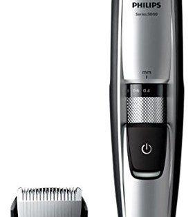 Philips BT5206/16 Tondeuse barbe Series 5000 avec guide de coupe dynamique: Notre nouveau guide de coupe dynamique soulève les poils pour…