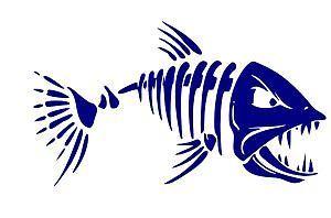 BONE FISH Truck or Boat Sticker, Kayak Decal, Fishing, Fishermen, Fish  #LuckyCutsVinyl