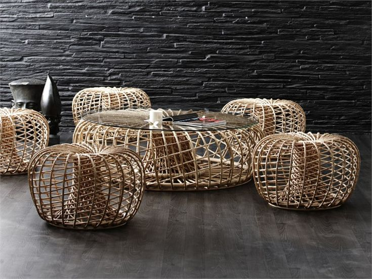 rattan pouf wicker furniture nesting pinterest nests furniture and wicker furniture. Black Bedroom Furniture Sets. Home Design Ideas