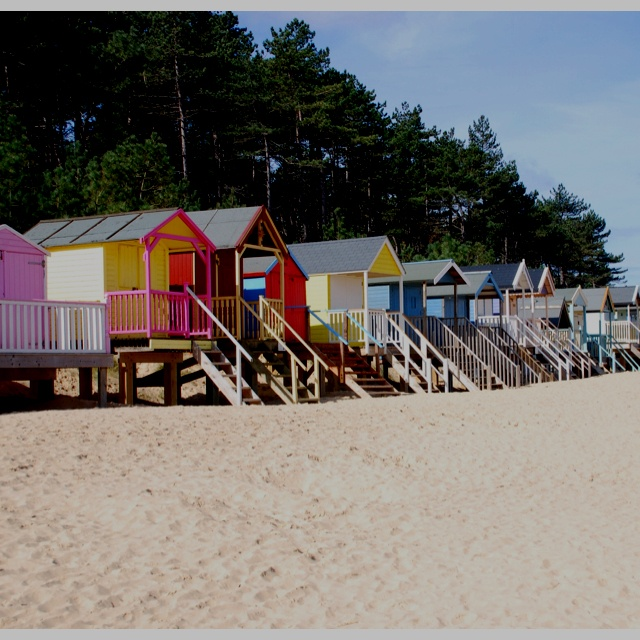 Wells Next The Sea, Norfolk, I heart these beach huts!