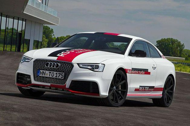 Audi celebrates diesel milestone with triple-charged RS5 TDI concept 0-60 in 4 seconds. 385 hp and 553 lb-ft