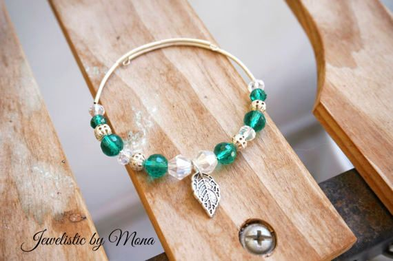Simply beautiful and cute memory wire crystal by JewelisticbyMona