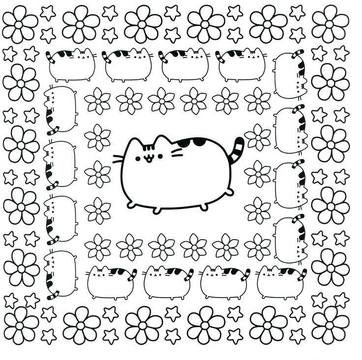 Coloring Rocks Cute Coloring Pages Pusheen Coloring Pages Cat Coloring Book