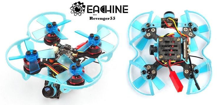 Eachine Revenger55 Micro FPV racing quadcopter for indoor competitions. It has 55mm wheelbase and weights about 69g. Eachine Revenger is equipped with F3 FC