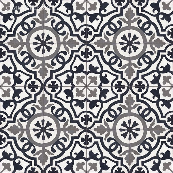 Cement Tile Shop - Handmade Cement Tile | Amalia Black baldosas hidráulicas…