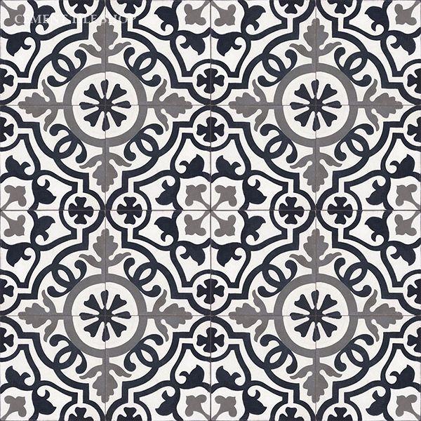 Cement Tile Shop - Handmade Cement Tile | Amalia Black baldosas hidráulicas…