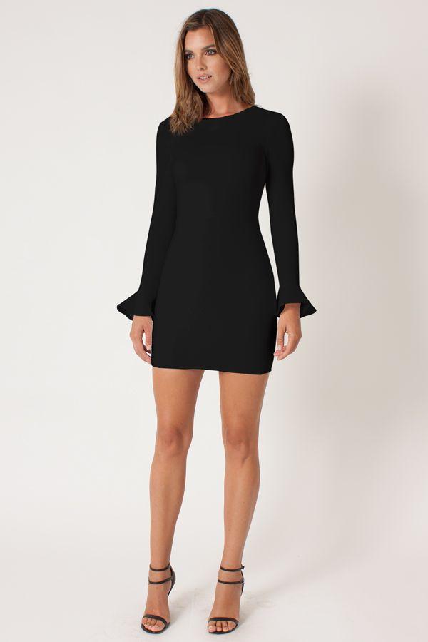 Black halo bouquet cami dress