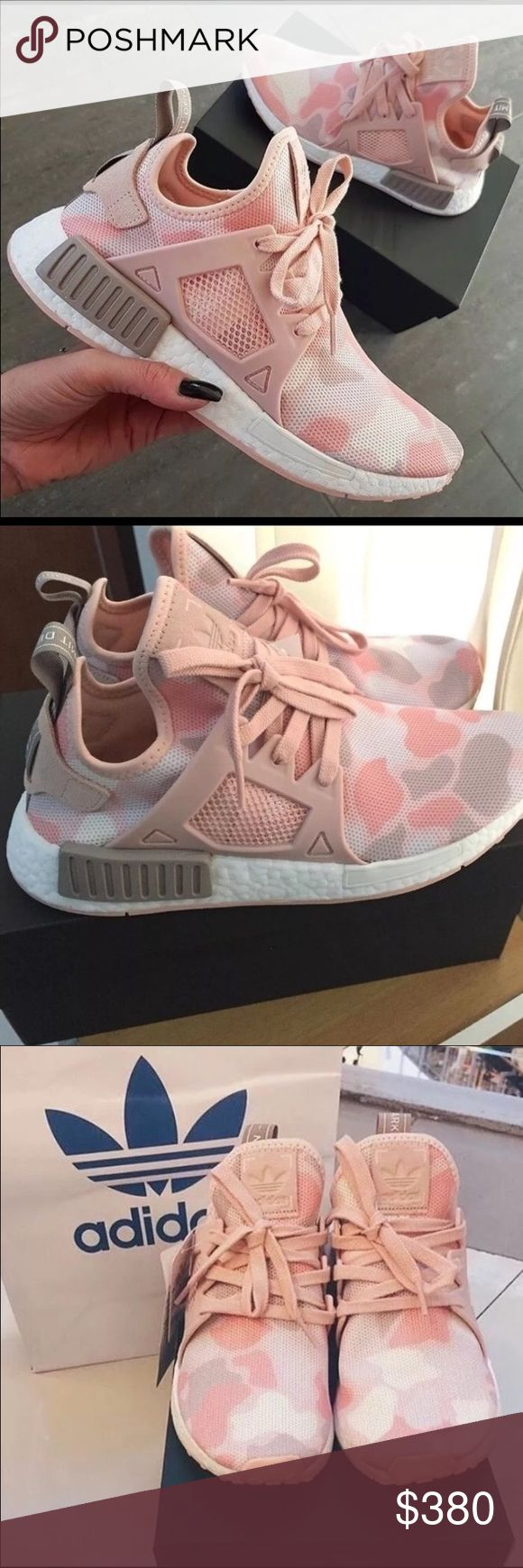 New in box • Adidas NMD XR1 Women Pink Duck Camo New Adidas NMD XR1 Women Pink Duck Camo. Have a soft camouflage pattern for a street worthy style. Built with a soft, textured adidas primeknit upper for a snug yet flexible fit. A TPU cage on the mid foot, while boost helps energize your steps. Breathable and flexible. Rubber outsole. Bought from adidas website. Never worn. I'm open to reasonable offers. Keep in mind, I had to pay tax + shipping and posh takes a 20% fee!! ••• ** Please no low…