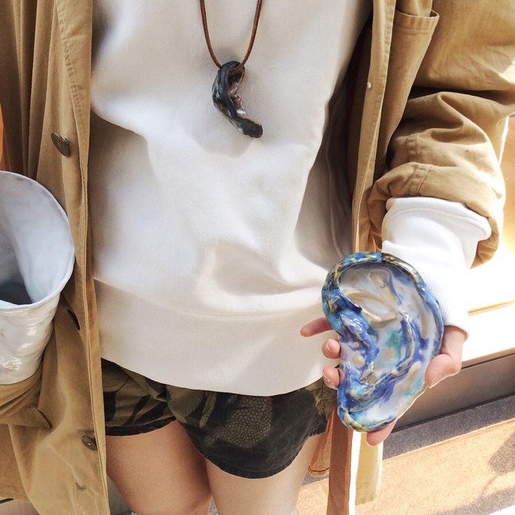 【OMA pottery 】 03 Left ear 左耳 ( A small dish ) #_OMA#pottery#softs
