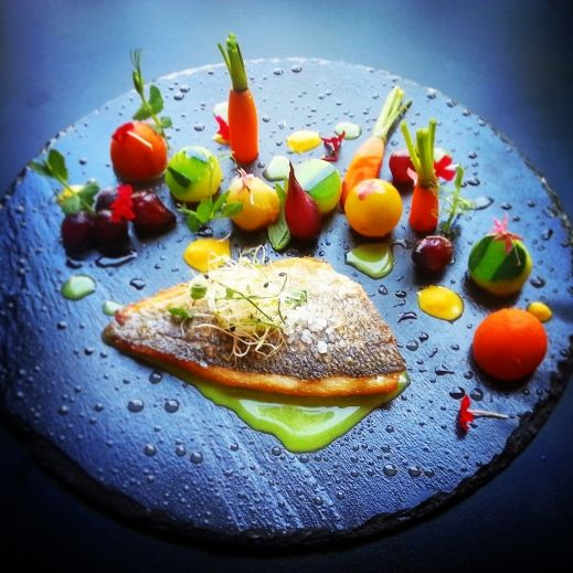 97 best images about food plating on pinterest fine for Fine dining food