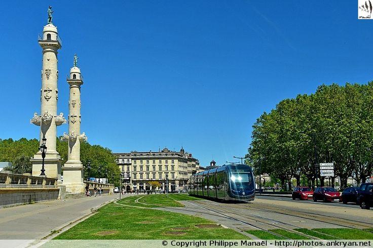 Tramway Ligne B, place des Quinconces - Bordeaux (Aquitaine, Gironde)