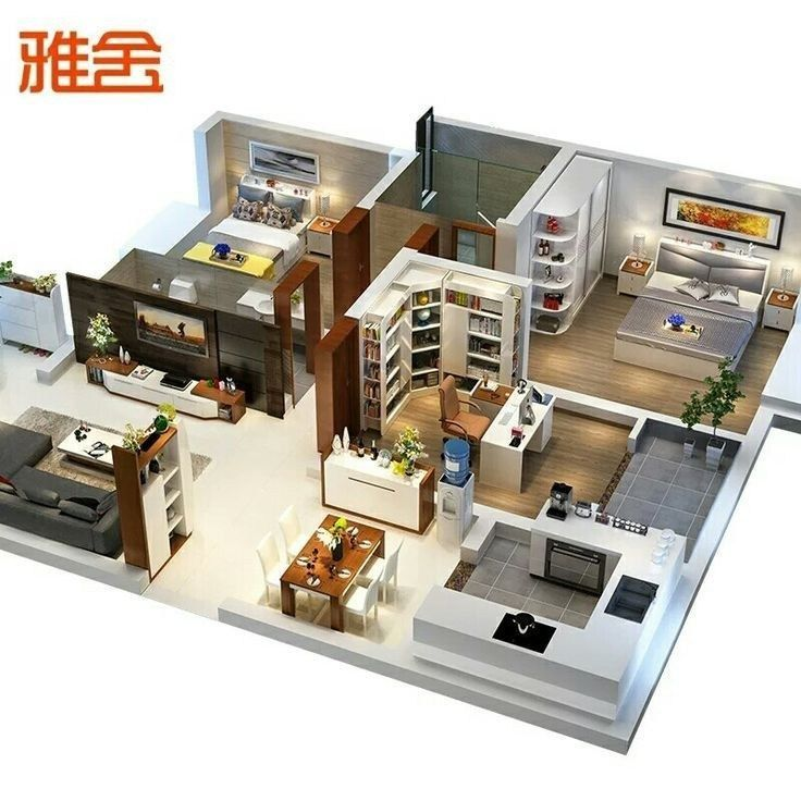 A 3d Floor Plan Or 3d Floorplan Is A Virtual Model Of A Building Floor Plan Depicted From A Bird S Eye Vi 3d House Plans Sims House Plans House Layout Plans