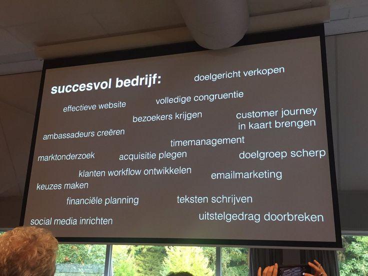 Nodig voor een succesvol bedrijf volgens @BartvandenBelt ZSA17 aan de slag