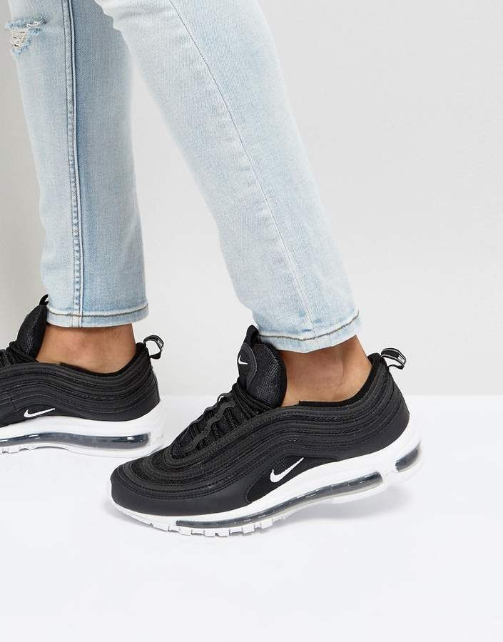 nike air max 97 trainers black