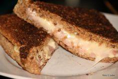 Grilled cheese sandwich. Geht wohl auch im Sandwichtoaster