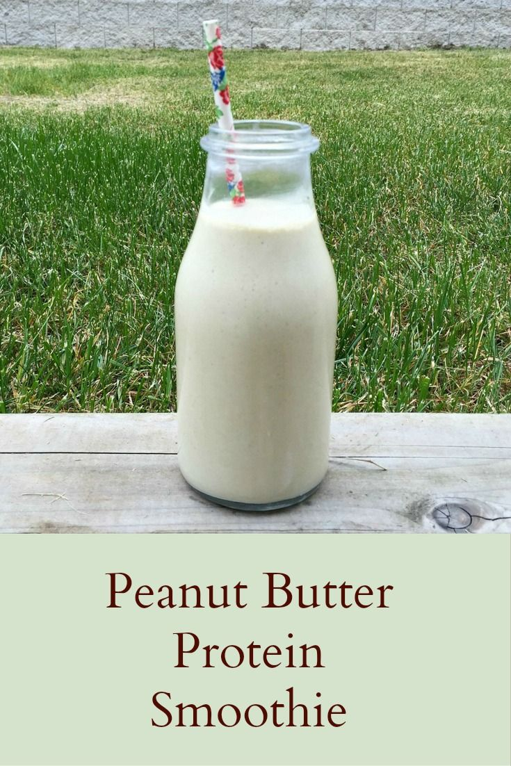 Peanut Butter Protein Smoothie  (breakfast, healthy recipes)
