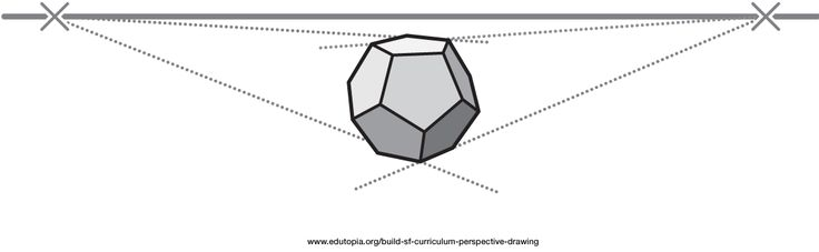 how to draw a perspective drawing of a polygon