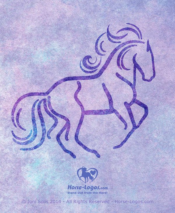 Equine graphic of a dressage horse in a slow collected, canter (uphill carriage with hind-end impulsion). The flying mane and tail add to the feel of movement in this design. Feedback is welcome. Thanks!