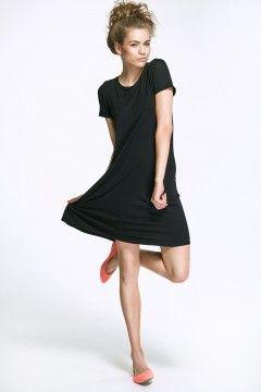 Sukienka z kokardą - czarny - AL31